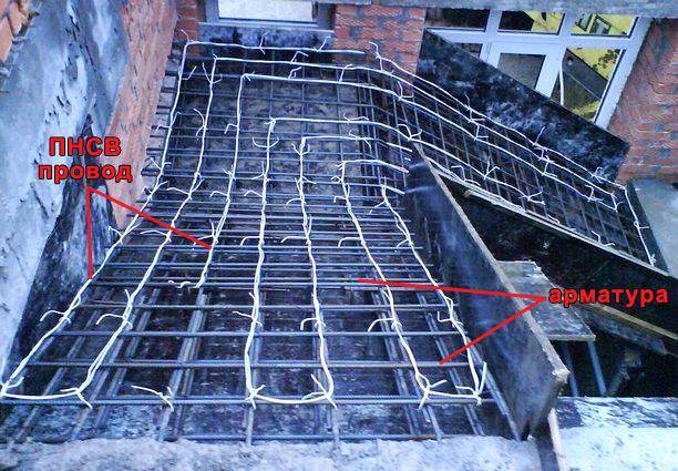 После заливки бетона сразу же